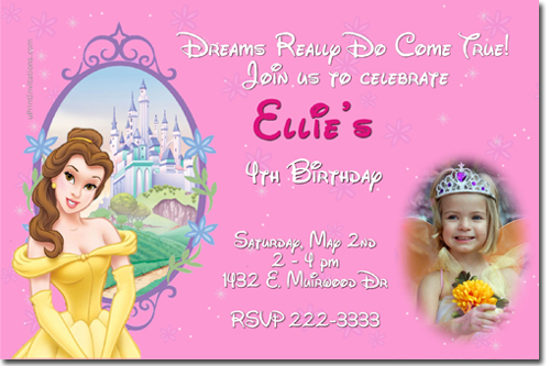 Beauty and the beast belle birthday invitations candy wrappers click to create this invitation filmwisefo