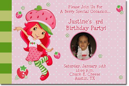 Strawberry Shortcake Birthday Invitations Candy Wrappers Thank – Strawberry Shortcake Birthday Invitations