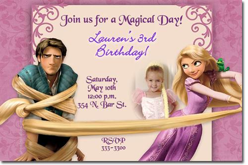 Rapunzel Birthday Invitations Tangled Candy
