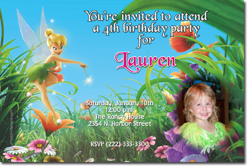 tinkerbell birthday invitations, candy wrappers, thank you cards, Birthday invitations