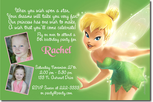 Tinkerbell birthday invitations candy wrappers thank you cards click to create this invitation bookmarktalkfo Choice Image