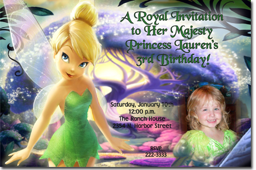 Tinkerbell birthday invitations candy wrappers thank you cards click to create this invitation bookmarktalkfo Image collections