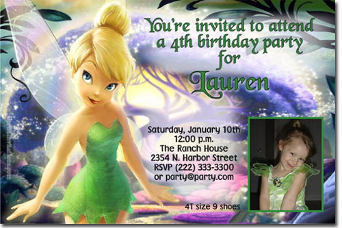 Tinkerbell Birthday Invitations Candy Wrappers Thank You Cards – Tinkerbell Birthday Invites