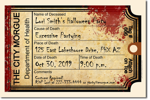click to create this invitation - Zombie Halloween Invitations