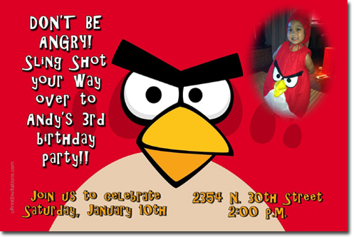 Angry birds birthday invitations and party supplies angry birds birthday invitations filmwisefo Choice Image