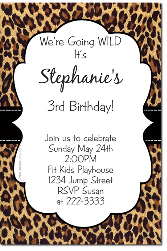 click to create this invitation - Animal Pictures Print Color