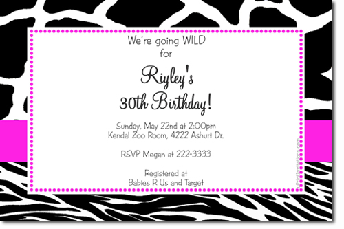 animal print birthday invitations zebra print birthday - Animal Pictures To Print And Colour