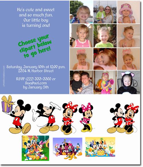 Mickey Mouse Birthday invitations Candy Wrappers Thank You Cards – Mickey Mouse Clubhouse Birthday Invites