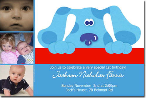Blues Clues Birthday Invitations Candy Wrappers Thank You Cards – Blues Clues Birthday Card