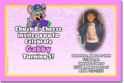 Chuck E Cheese Birthday Invitations Candy Wrappers Thank You - Chuck e cheese birthday invitation template