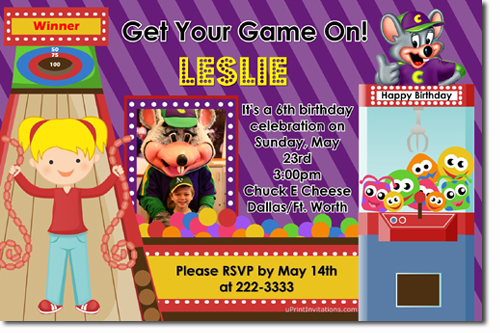 chuck e. cheese birthday invitations, candy wrappers, thank you, Birthday invitations