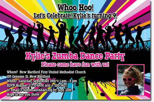 Zumba Party Invitation Template Bsctv