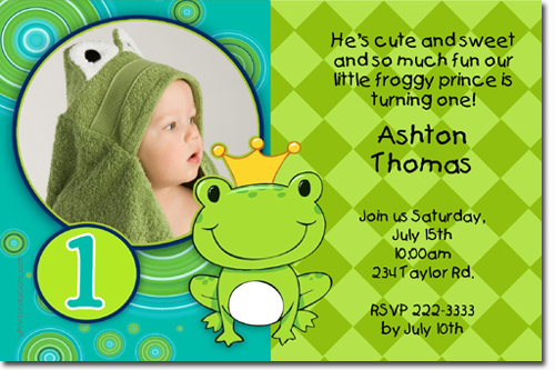 Frog Wedding Invitations: Frog Birthday Invitations, Candy Wrappers, Thank You Cards