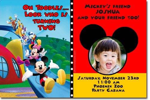 Mickey Mouse Birthday Invitations Candy Wrers Thank You