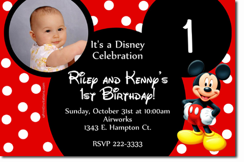 mickey mouse invitations online