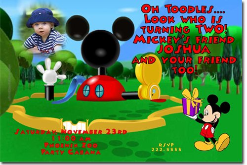 mickey mouse birthday invitations, candy wrappers, thank you cards, Birthday invitations