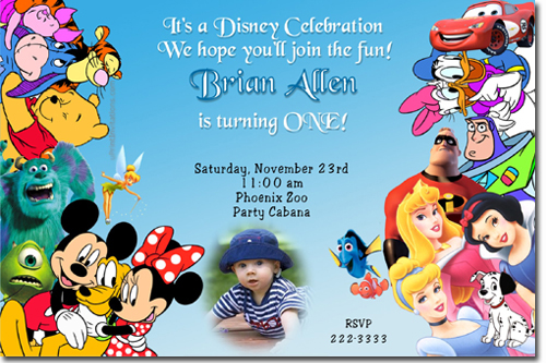 Mickey Mouse Birthday Invitations Candy Wrappers Thank You Cards