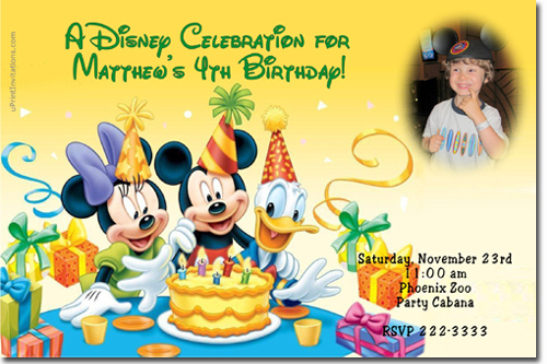 Mickey Mouse Birthday Invitations Candy Wrappers Thank You