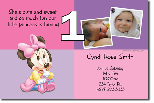 Minnie Mouse Birthday invitations Candy Wrappers Thank You Cards – Minnie Invitations for Birthdays
