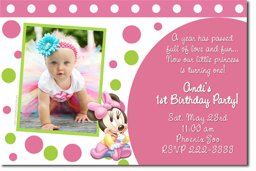 Minnie Mouse Birthday invitations, Candy Wrappers, Thank You