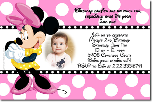 minnie mouse birthday invitations, candy wrappers, thank you cards, Birthday invitations