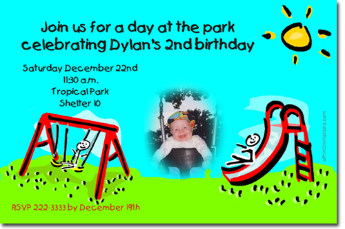 Park birthday invitations playground birthday invitations candy click to create this invitation filmwisefo