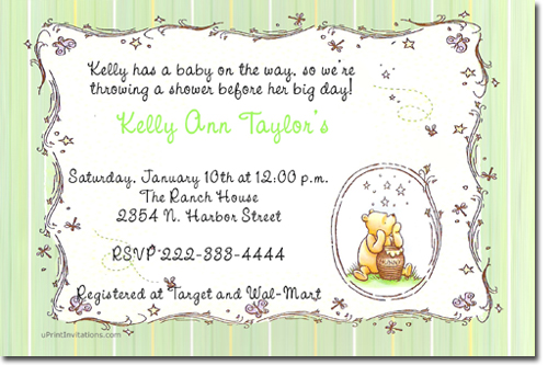 Winnie the pooh birthday invitations candy wrappers thank you click to create this invitation m4hsunfo