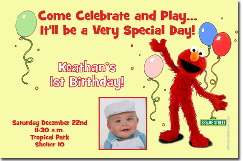 Sesame Street Birthday Invitations Elmo Birthday Invitations – Elmo Birthday Card