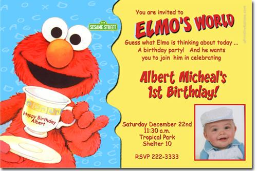 Sesame Street Birthday Invitations Elmo Birthday Invitations Candy