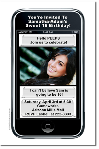 Iphone birthday invitations texting birthday invitations candy click to create this invitation stopboris Images