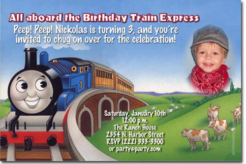 Thomas the Tank Engine Birthday Invitations Candy Wrappers Thank – Thomas the Train Birthday Party Invitations
