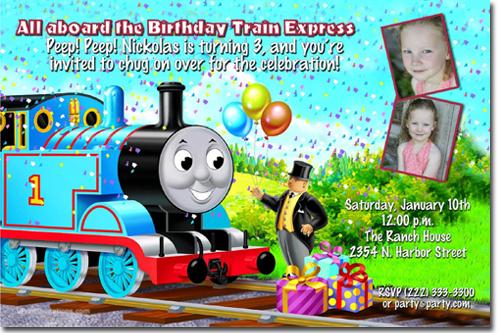 Thomas the Tank Engine Birthday Invitations Candy Wrappers Thank – Thomas the Tank Engine Party Invites