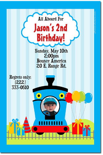 thomas the tank engine birthday invitations, candy wrappers, thank, Birthday invitations