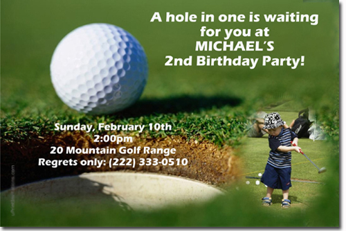 golf birthday invitations putt putt birthday invitations mini golf