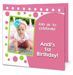 Design online, download jpg immediately DIY folded birthday party Invitations