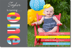 Design online, download jpg immediately DIY 1st birthday Invitations