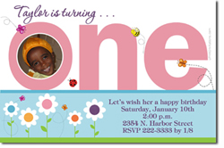 Design online, download jpg immediately DIY 1st birthday party Invitations