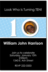 Design online, download jpg immediately DIY 10th birthday Invitations