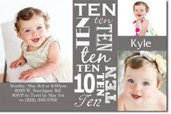 Design online, download jpg immediately DIY 10th birthday party Invitations