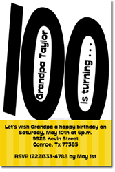 Design online, download jpg immediately DIY 100th birthday party invitations