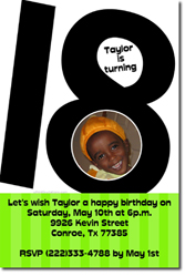 Design online, download jpg immediately DIY 18th birthday party Invitations