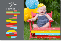 Design online, download jpg immediately DIY 2nd birthday Invitations