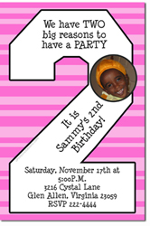 Design online, download jpg immediately DIY 2nd birthday party Invitations