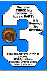 Design online, download jpg immediately DIY 3rd birthday Invitations