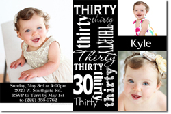 Design online, download jpg immediately DIY 30th birthday party invitations