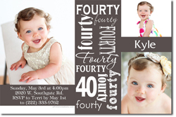 Design online, download jpg immediately DIY 40th birthday party invitations