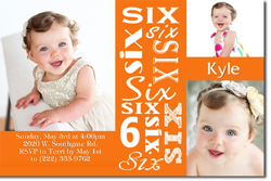 Design online, download jpg immediately DIY 6th birthday party Invitations
