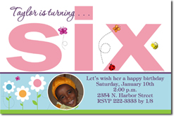 Design online, download jpg immediately DIY 6th digital birthday party Invitations