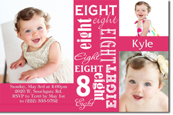 Design online, download jpg immediately DIY 8th birthday party Invitations