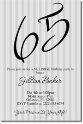 Design online, download jpg immediately DIY 65th birthday party invitations